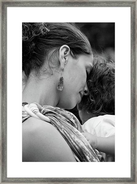 Framed Print featuring the photograph Mother And Child by Catherine Sobredo