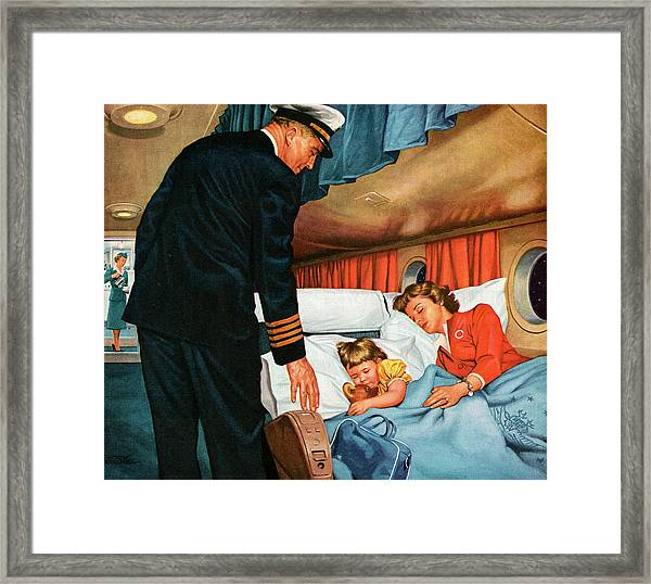 Mother And Daughter Asleep On An Framed Print