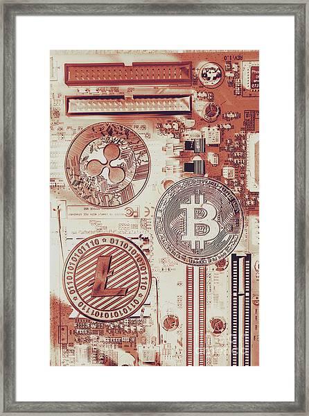 Motherboard Money Framed Print