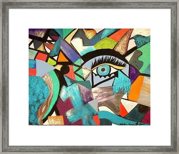 Motley Eye 4 Framed Print