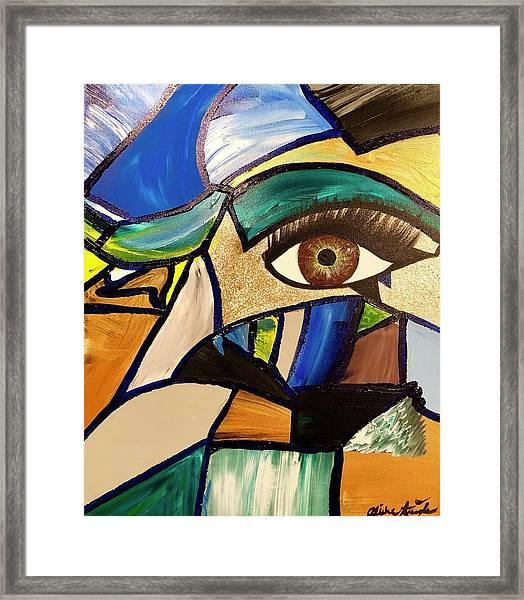 Motley Eye 5 Framed Print