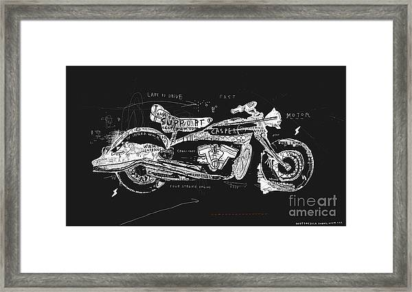 Motorcycle, Which Consists Of A Framed Print