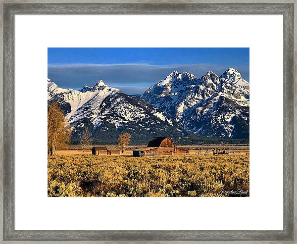Moulton Barn Grand Tetons Framed Print