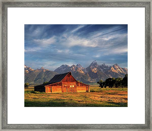 Moulton Barn Morning Light Framed Print