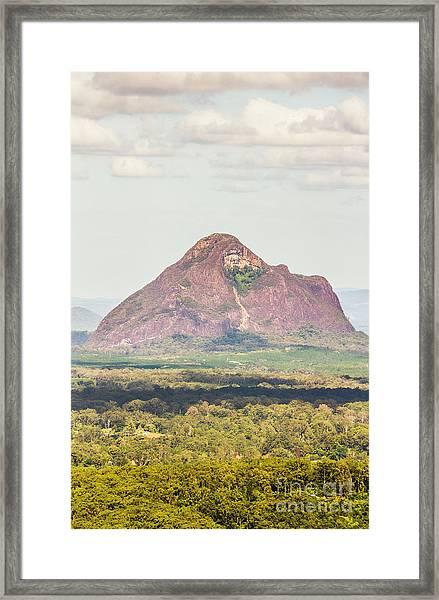 Mount Beerwah Framed Print