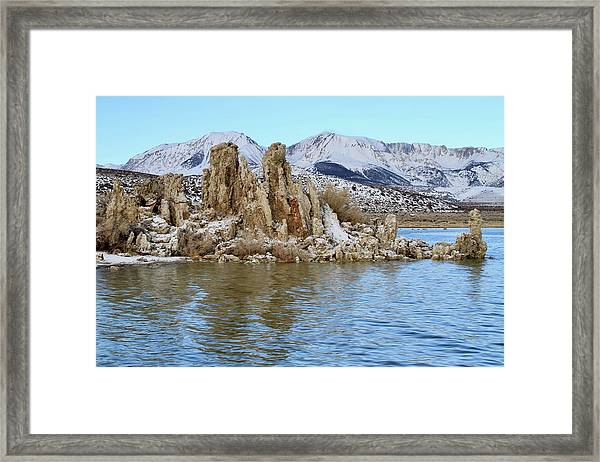 Mount Dana At Dawn  Mono Lake Framed Print