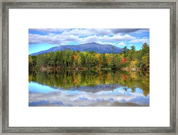 Mount Katahdin Framed Print by Denistangneyjr