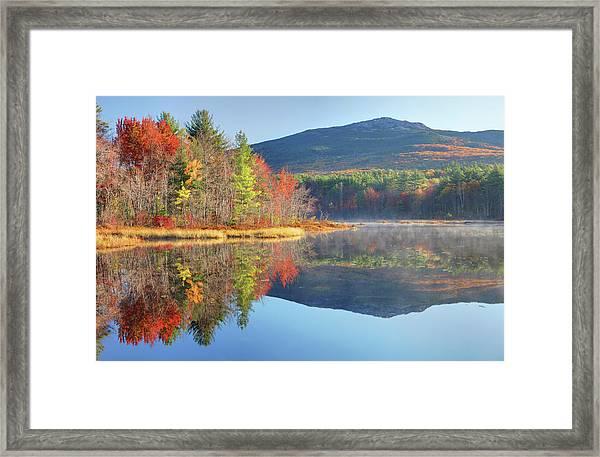 Mount Monadnock In Autumn Framed Print by Denistangneyjr