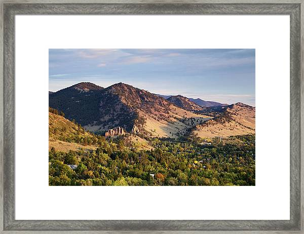 Mount Sanitas And Fall Colors In Framed Print