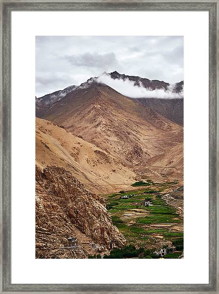 Framed Print featuring the photograph Mountain Farming by Whitney Goodey