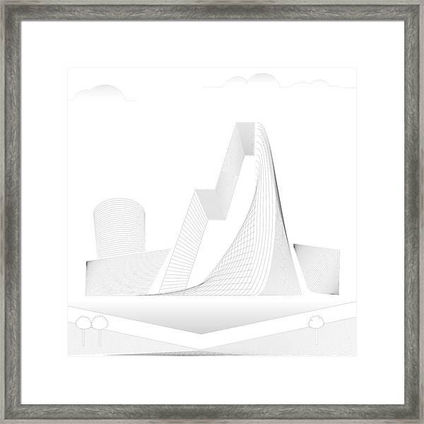 Mountain Gate Framed Print