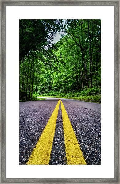 Mountain Highway Framed Print
