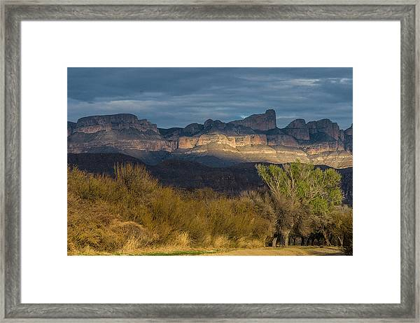 Mountain Illumination Framed Print