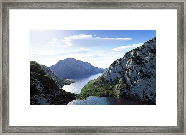 Mountain Lake, Artwork Framed Print