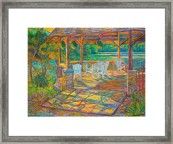 Mountain Lake Shadows Framed Print