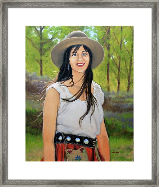 Mountain Megan Framed Print
