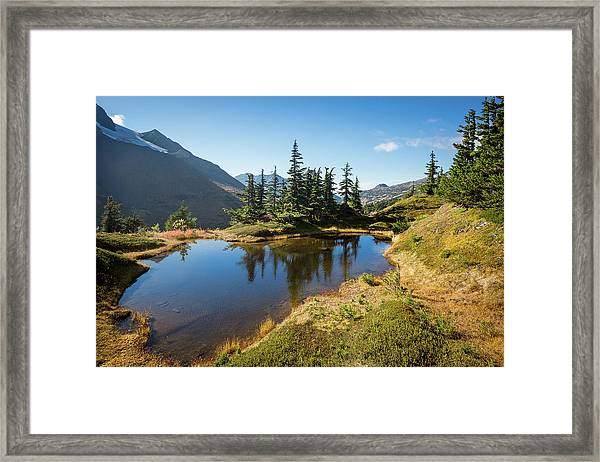 Mountain Pond Framed Print