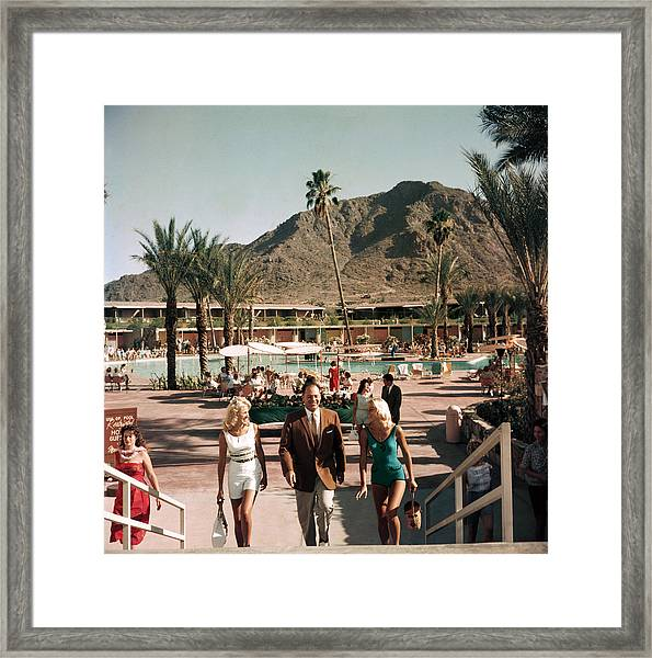 Mountain Shadows Resort Framed Print by Slim Aarons