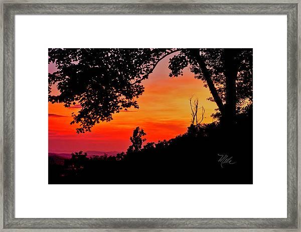 Mountain Sunrise Framed Print