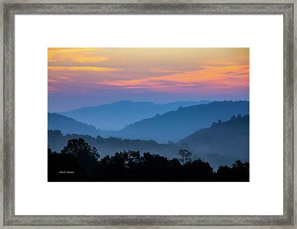 Mountain Tide Framed Print