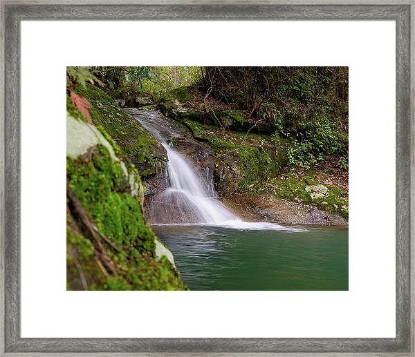 Framed Print featuring the photograph Mountain Waterfall II by William Dickman