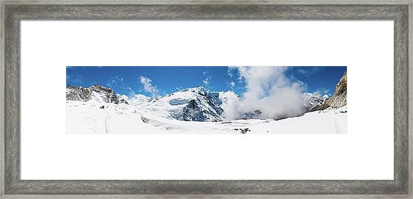 Mountaineers Climbing Snow Glacier Peak Framed Print by Fotovoyager