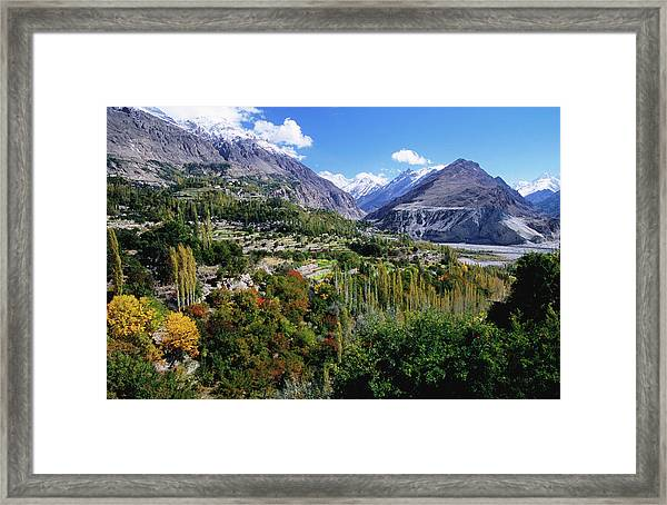 Mountains And Cultivated Terraces Of Framed Print