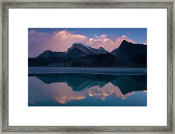 Mountains Reflected In Still Rural Lake Framed Print by Cultura Exclusive/ben Pipe Photography