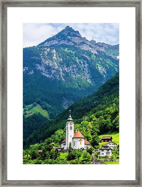 Mountainside Church Framed Print
