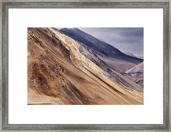 Framed Print featuring the photograph Mountainside by Whitney Goodey
