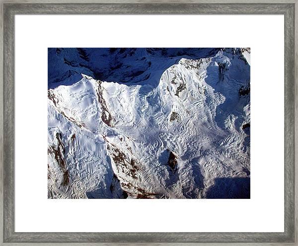 Mountaintop Snow Framed Print