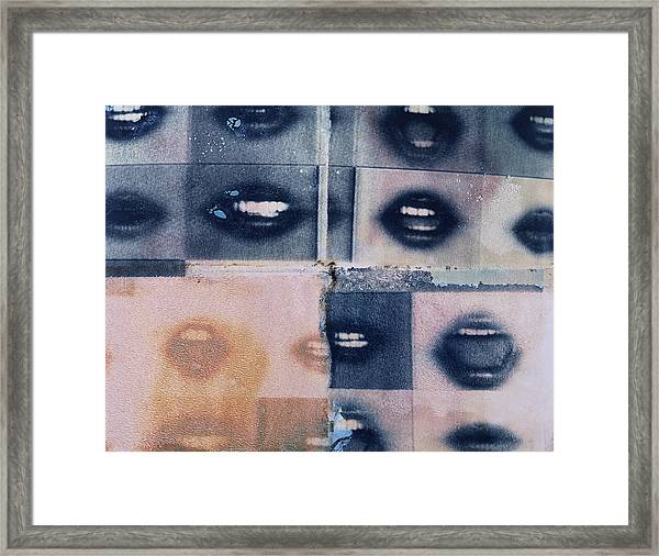 Mouth Collage Framed Print