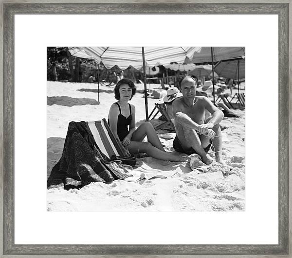 Mr & Mrs Livingston Biddle II Relaxing Framed Print