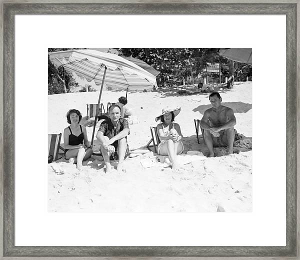 Mr & Mrs Livingston Biddle II With Mr Framed Print