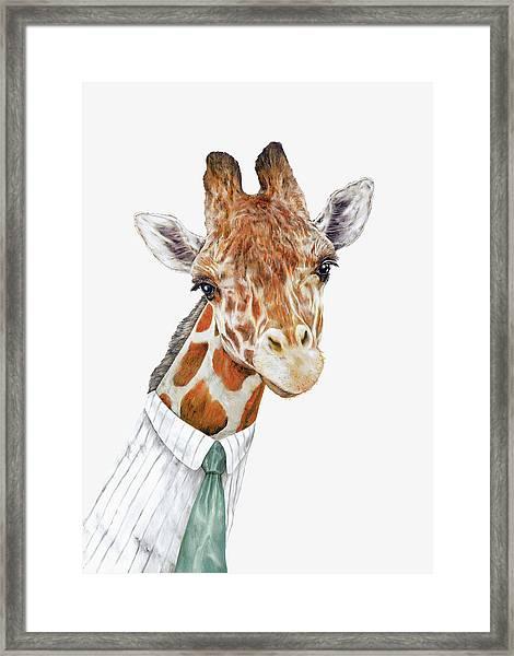 Mr Giraffe Framed Print