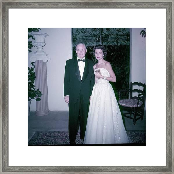 Mrs And Mrs Charles B Wrightsman Framed Print