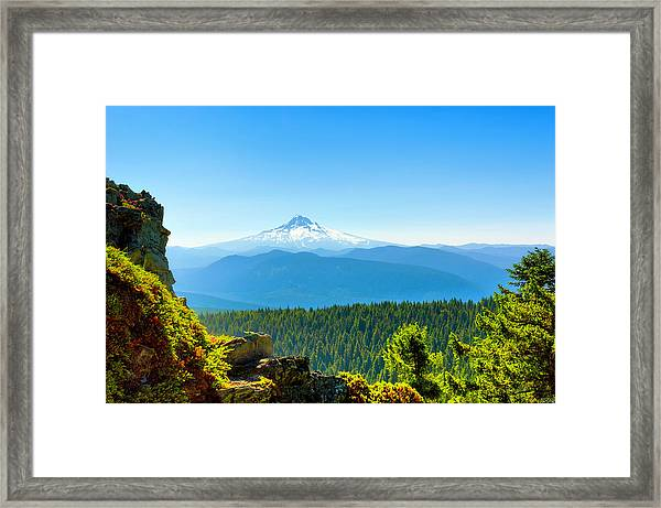 Mt Hood Seen From Beyond Framed Print