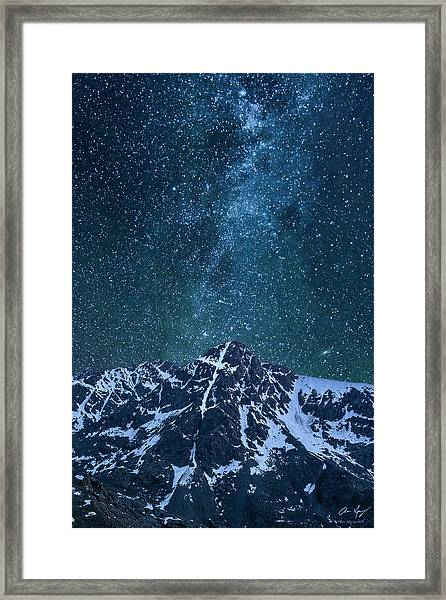 Mt. Of The Holy Cross Milky Way Framed Print