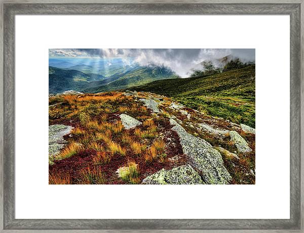 Mt. Washington Nh, Autumn Rays Framed Print
