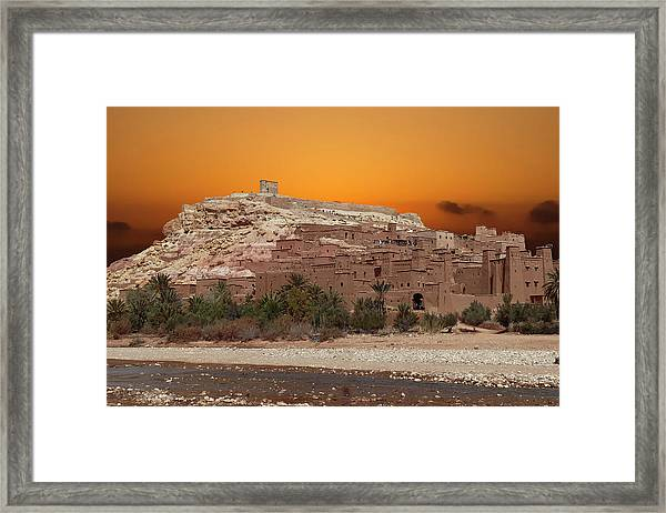 Mud Brick Buildings Of The Ait Ben Haddou Framed Print