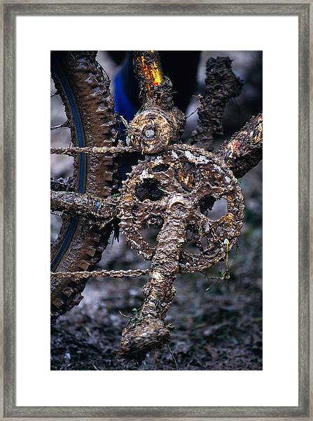 Muddy Bicycle, Close-up Framed Print by Anton Want