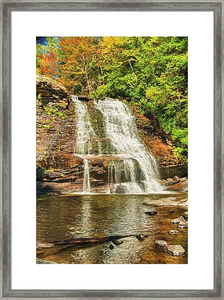 Muddy Creek Falls Framed Print