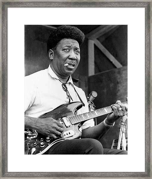 Muddy Waters Live At The Ann Arbor Framed Print