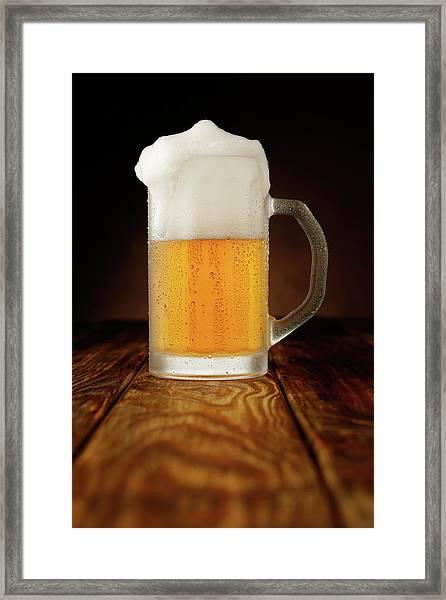 Mug Of Beer Framed Print by Ultramarinfoto