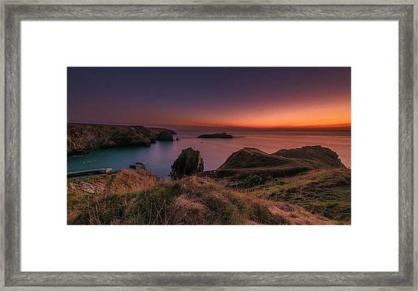 Mullion Cove - Sunset 2 Framed Print