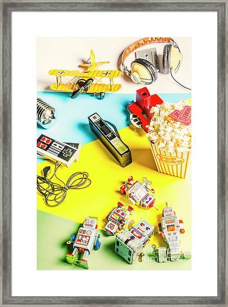 Multicolour Memorabilia Framed Print
