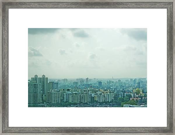 Mumbai Blue Framed Print