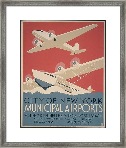 Municipal Airports Poster Framed Print
