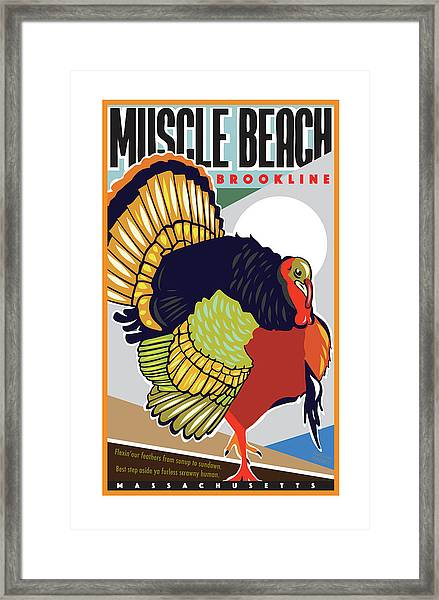 Muscle Beach Framed Print