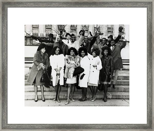 Music Personalities U.s.a. Pic October Framed Print